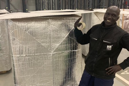 Preservation of the cold chain during travelling with huge temperature differences